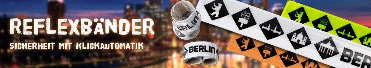 Reflexband mit Logodruck