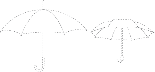 regenschirme-beschnittgrafik